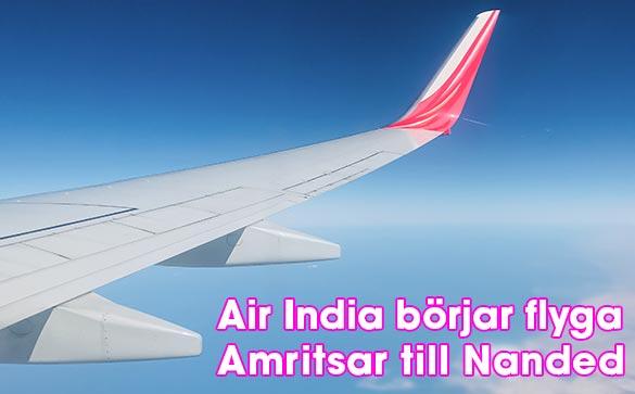 Air India börjar flyga mellan Amritsar och Nanded
