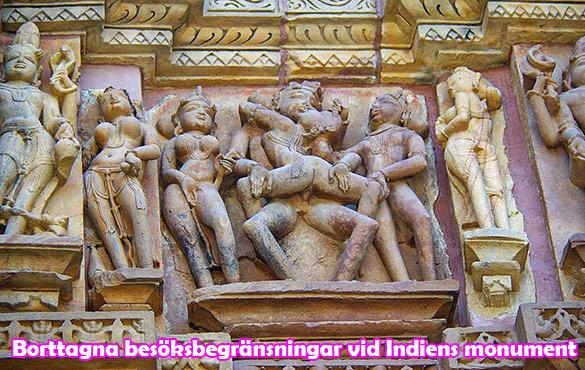 Begränsningen för antal besökare vid monument i Indien borttaget