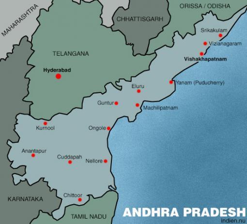 Karta över Andhra Pradesh
