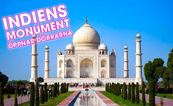 Indiens monument öppnar dörrarna trots Corona