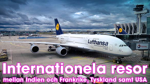 Internationella flyg från Indien inleds