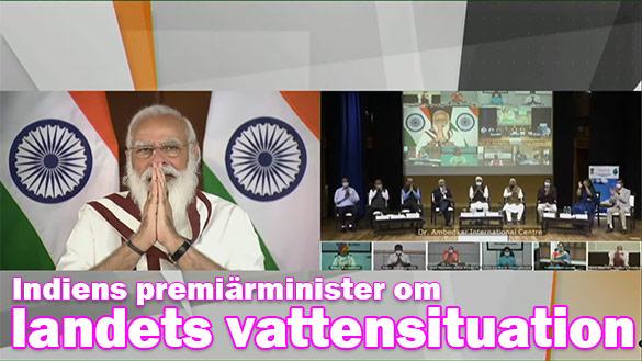 "Indiens premiärminister lanserar kampanjen ""Fånga regnet"""