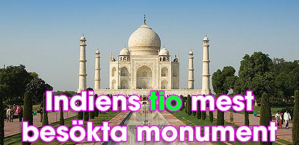 Taj Mahal, Indiens mest besökta monument