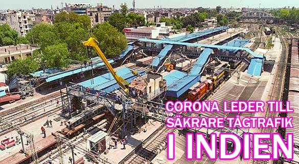 Corona ger säkrare tågtrafik i Indien